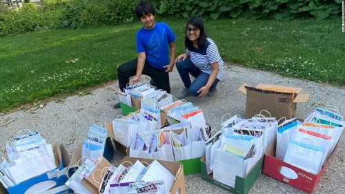 A high school student and her brother are helping seniors feel less lonely with notes and care packages