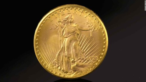 Rare 'Double Eagle' gold coin sells for a record $18.9M | CNN