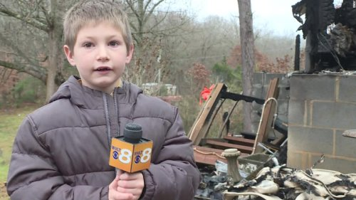 A 7-year-old boy went back into a burning home to save his baby sister