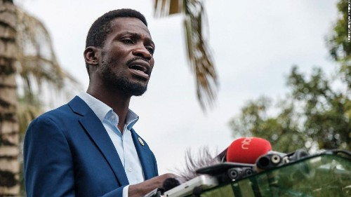 Ugandan presidential candidate Bobi Wine says his home is 'under siege'