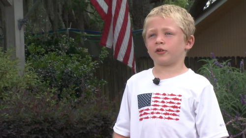 A 7-year-old boy in Florida swam for an hour to get help for his dad and sister who were stranded in a river