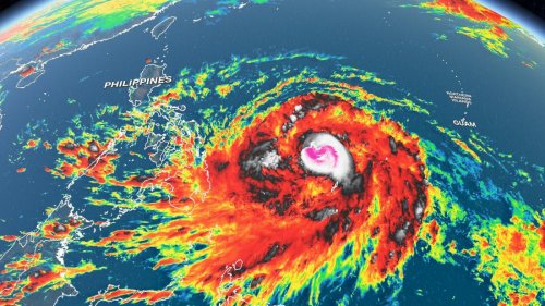 Typhoon Surigae may bring heavy rain and high wind gusts to the Philippines
