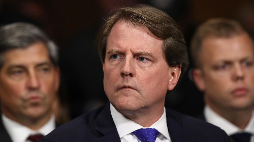 Former White House counsel Don McGahn invited to Trump's send-off, but will not attend, source says