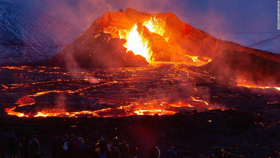 In pictures: Volcano erupts in Iceland