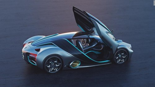 This hydrogen-powered supercar can drive 1,000 miles on a single tank