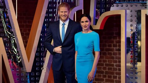 Removed from royal display, Meghan and Harry waxworks join Madame Tussauds' 'party zone'