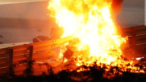 Formula One driver Romain Grosjean involved in horror crash during Bahrain Grand Prix