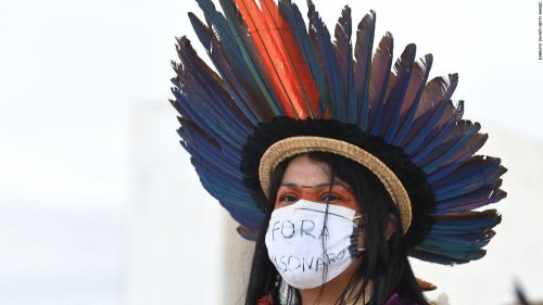 Brazil's indigenous groups protest mining bill