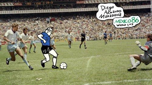 Argentine artist channels 'hand of God' with Maradona portrait