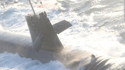 Japanese submarine collides with commercial ship while surfacing in Pacific