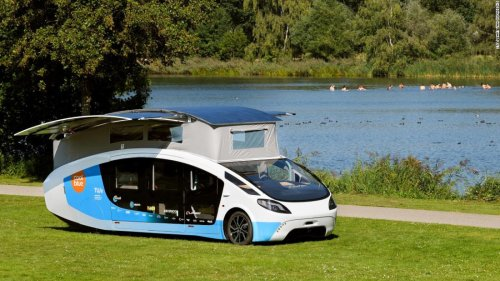 A fully solar-powered campervan has just driven through Europe