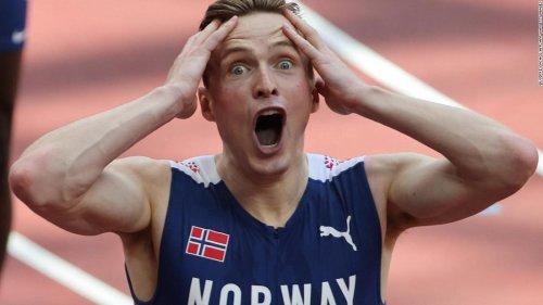Karsten Warholm wins 'best race in Olympic history' as he breaks 400m hurdles world record