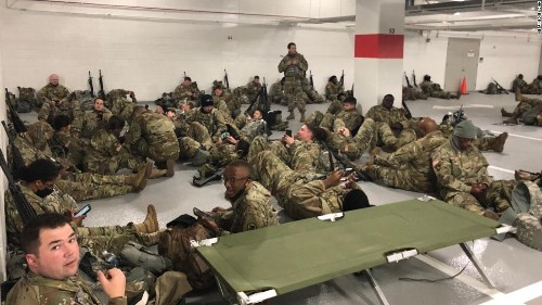 Jill Biden makes surprise visit to National Guard troops during first official event