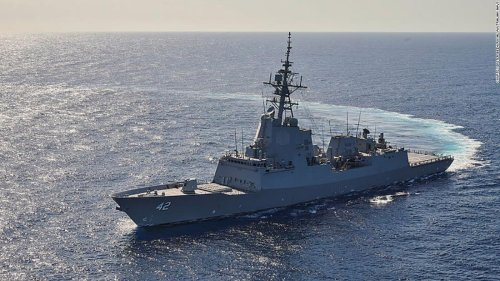Australian destroyer arrived in San Diego with 2 dead endangered whales stuck to its hull