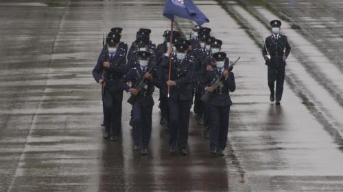 Hong Kong police showcase 'Chinese-style goose-stepping'
