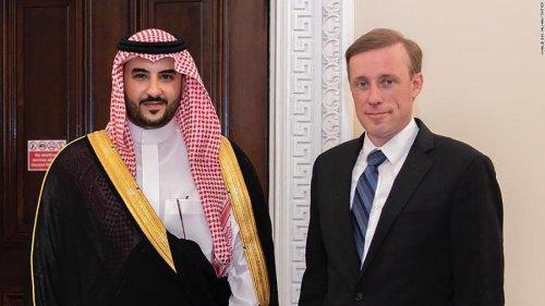 Biden administration gives senior Saudi visitor the red carpet treatment signaling possible warming ties