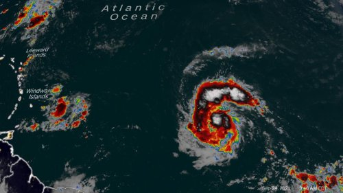Hurricane Sam continues to intensify over the Atlantic