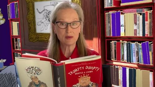 Watch Meryl Streep read a poem from John Lithgow's 'Trumpty Dumpty' book