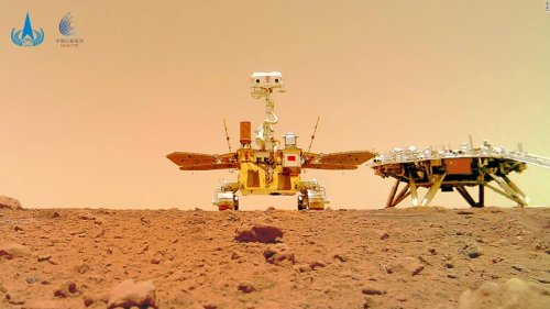 China releases photos of its Mars rover on surface of the red planet