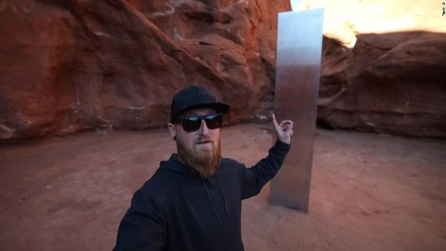 Some eager explorers have already hiked into the desert and found the Utah monolith. Spoiler alert: it's gone now