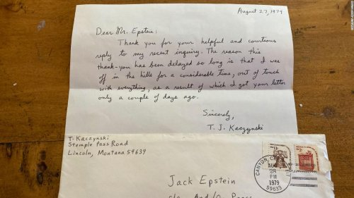 Cleaning out the attic, journalist discovers two letters written to him by the Unabomber