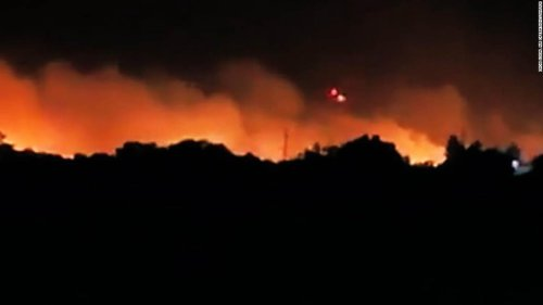 A rapidly growing southern California fire forced 500 evacuations, officials say