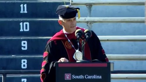 University president resigns after plagiarizing part of a speech by the former head of US Special Operations Command