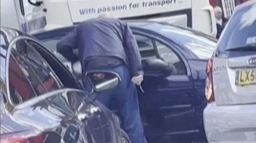 Man pulls knife after driver skips gas line in London