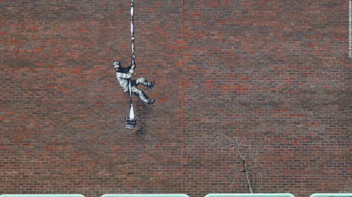 Is Banksy behind this prison-escape mural on the wall of a notorious British jail?