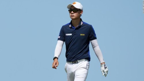 Thai golfer hits bunker shot from knees during the Open -- and posts video on social media showing he'd practiced it beforehand