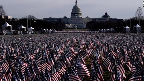 Stunning images from DC show flags representing crowds