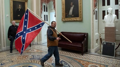 Opinion: A Confederate flag at the Capitol summons America's demons