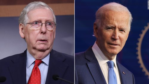McConnell calls out Biden's vaccine timeline after ignoring Trump's