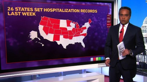 Officials worry about hospital capacity as US hits record number of Covid-19 patients hospitalized