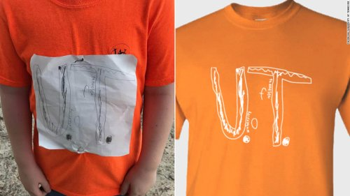 He was bullied for his homemade University of Tennessee T-shirt. The school just made it an official design - CNN