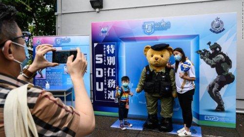 Analysis: Goose-stepping police debut in Hong Kong
