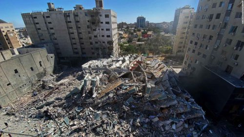 Media offices destroyed by Israeli airstrike in Gaza