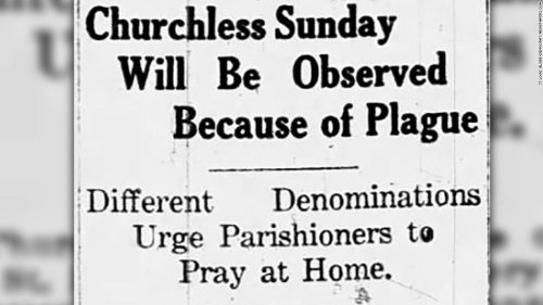 For churchgoers during the Covid-19 pandemic, a deadly lesson from the 1918 flu