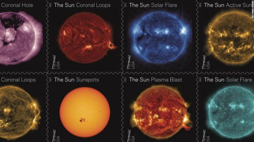 New stamps celebrate a decade of watching the sun from space