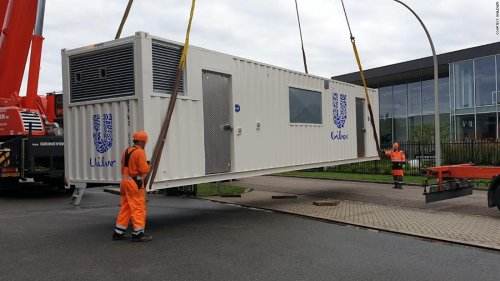 This 'nano factory' fits inside a shipping container