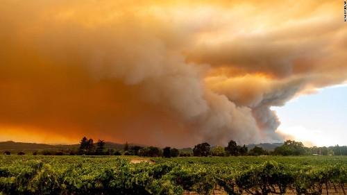 A California firefighter was robbed as he battled a blaze in Santa Cruz