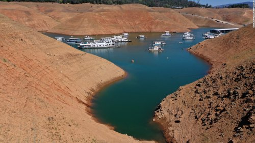 A California reservoir is expected to fall so low that a hydro-power plant will shut down for first time