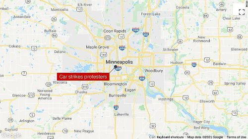 A woman is dead after a car drove through a crowd of protesters in Minneapolis, police say   CNN