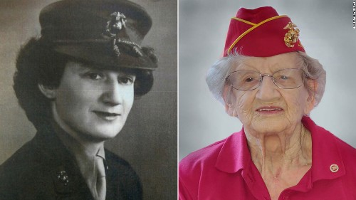 The oldest living Marine, a North Carolina woman, has died at age 107