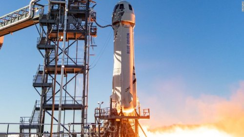 Jeff Bezos' rocket company launches first test of its tourism spaceship in a year