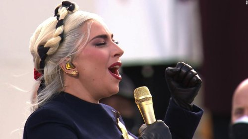 Hear Lady Gaga sing the National Anthem at inauguration