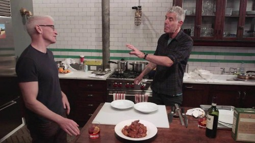 Watch Anthony Bourdain teach Anderson Cooper how to make 'Sunday Gravy'