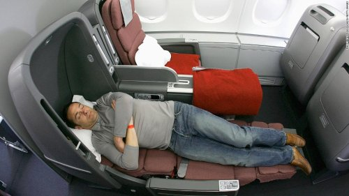 Qantas auctions off two A380 lie-flat airplane seats