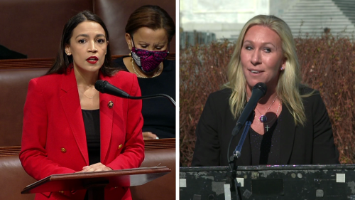 Since-deleted video shows Marjorie Taylor Greene harassing Alexandria Ocasio-Cortez's office during 2019 Capitol Hill visit