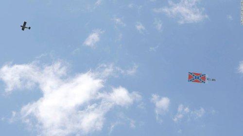A plane flew a Confederate flag over NASCAR race